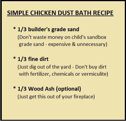 Simple Chicken Dust Bath Recipe By Jen Pitino